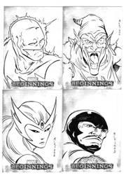 Marvel sketch cards 3 by victoroil