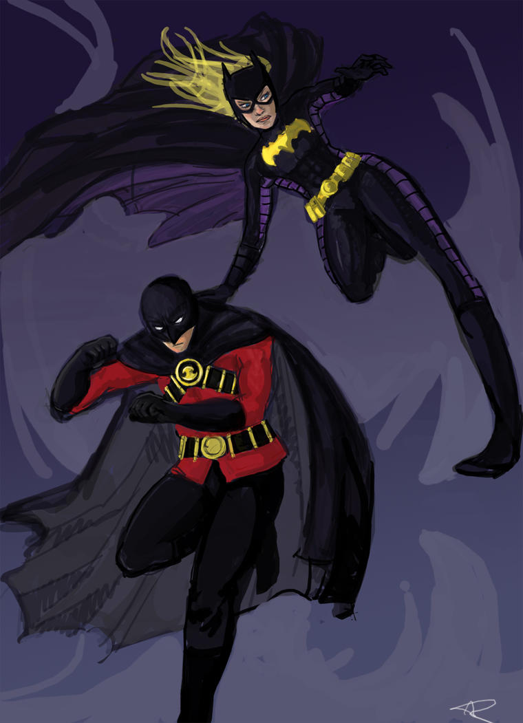 Tim Drake and Stephanie Brown by KimchiCrusader