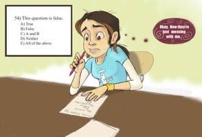 Exam Trickery by KimchiCrusader