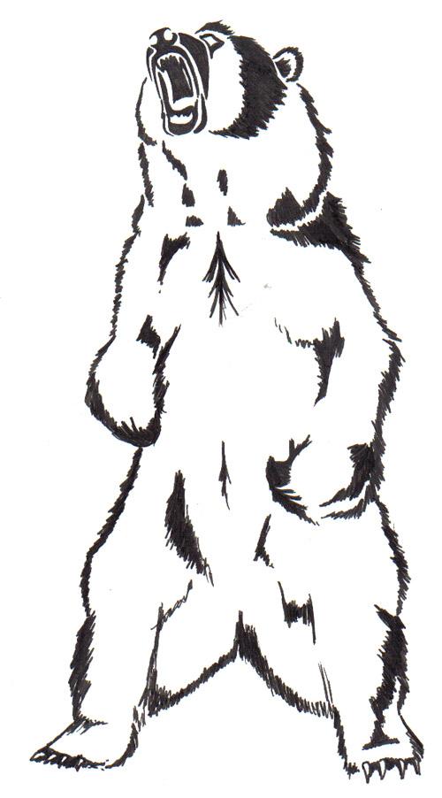 designs tattoo tribal grizzly bear by Bear Kari DeviantArt Anderson on Design Tattoo