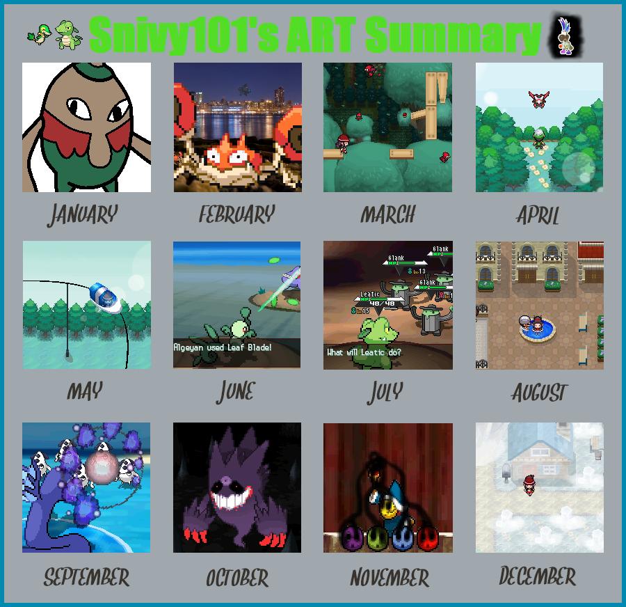 2013 Art Summary by Snivy101