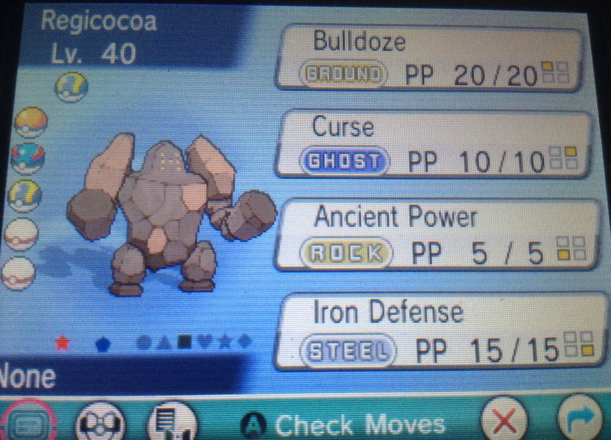 I'm in love with that SHINY REGIROCK!!!! by Snivy101