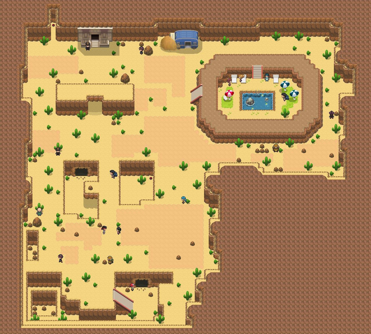 Route 5: Barren Desert Map by Snivy101