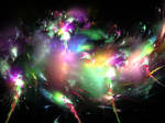Night Lights Nebula Stock