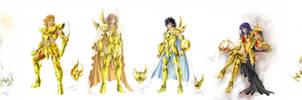 Frieze of gold saints