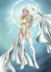 Emma Frost by SpaceWeaver