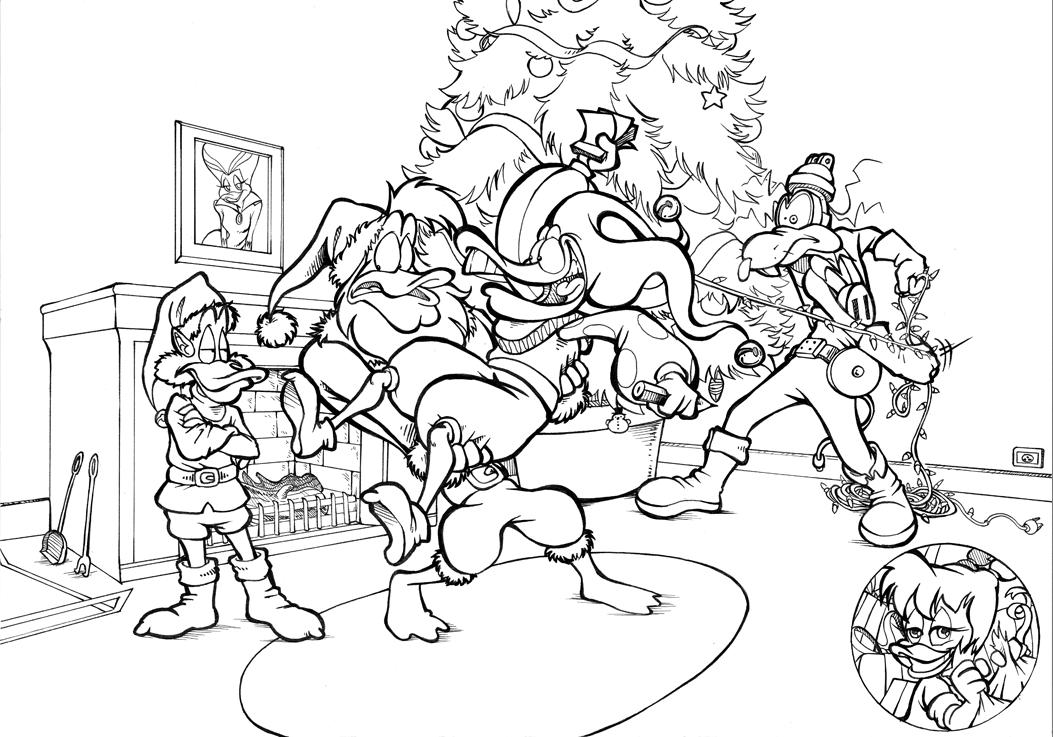 Line Drawing Xmas Tree : Christmas lineart by garlar on deviantart