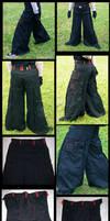 Baggy pleat pants