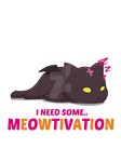 Chomusuke meow-tivation design for print by Peonage