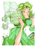 Green: Laying the Clover by GlyphBellchime