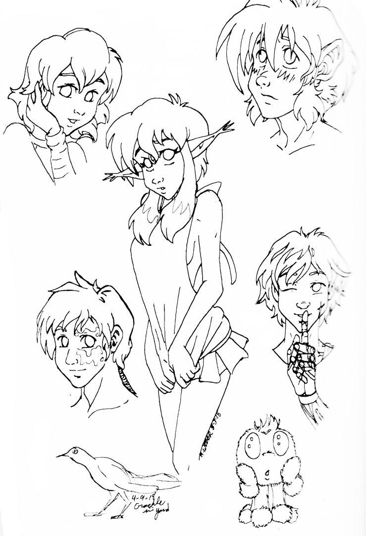 Sketch Dump 1 by GlyphBellchime