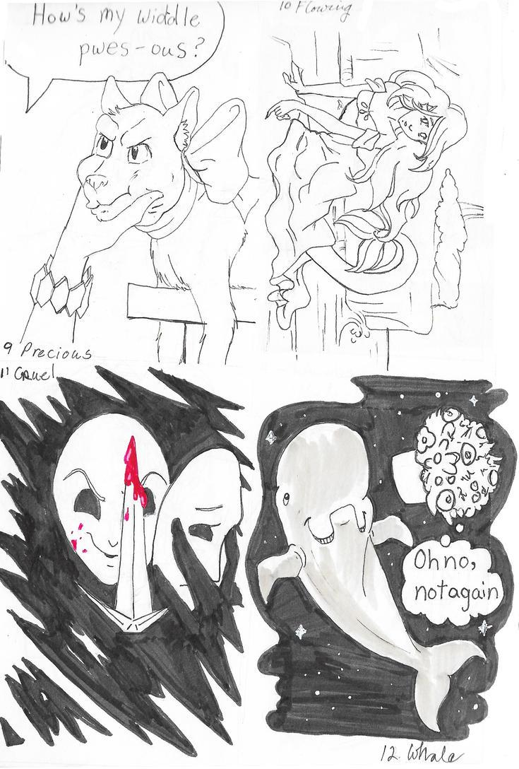Inktober 9-12 by GlyphBellchime