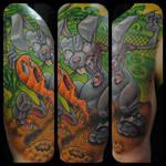 Zombie Rabbit Tattoo