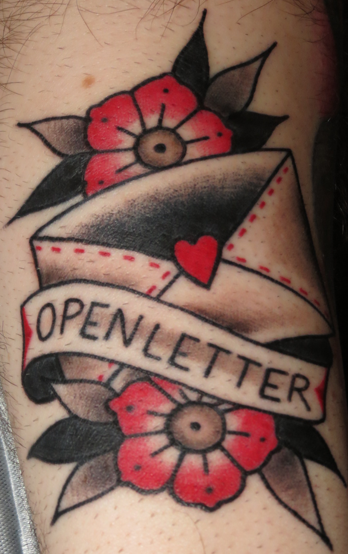 Open Letter Tattoo by Nelby2388