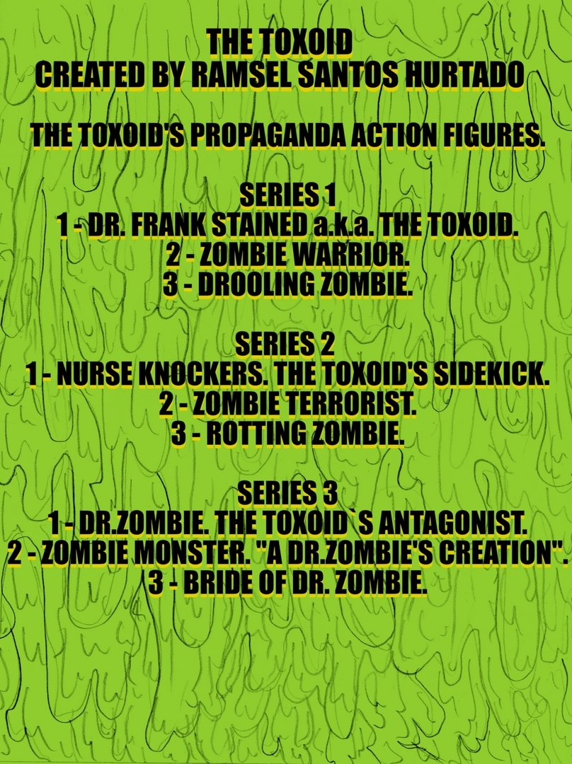 THE TOXOID'S PROPAGANDA ACTION FIGURES.