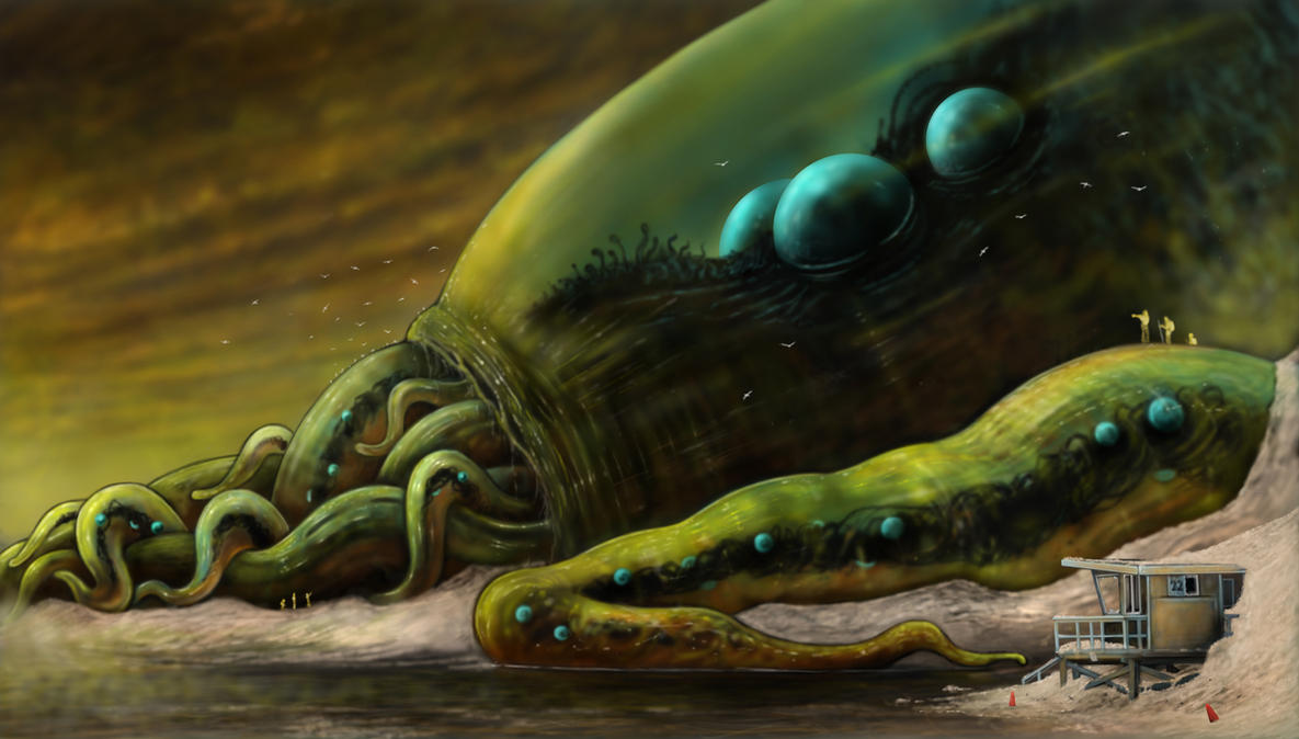The Dead God Cthulhu by fiend-upon-my-back