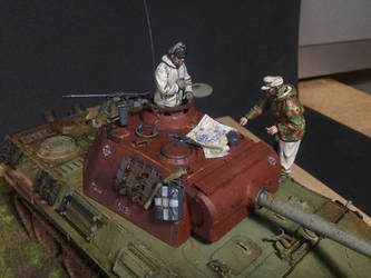 Tamiya Panther G late. 1/35 by fiend-upon-my-back