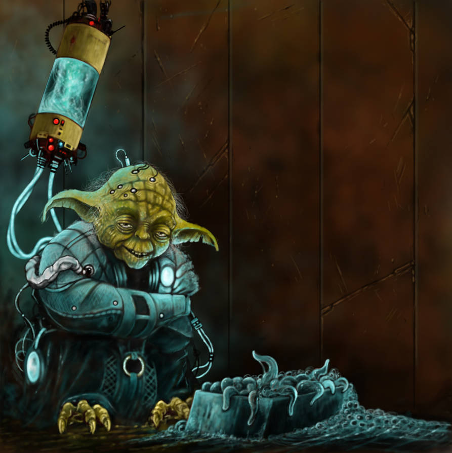 crazy Yoda 2 by fiend-upon-my-back