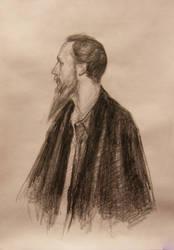 Portrait of a painter by medailon