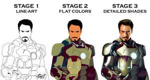 Iron Man 3 Poster Workflow