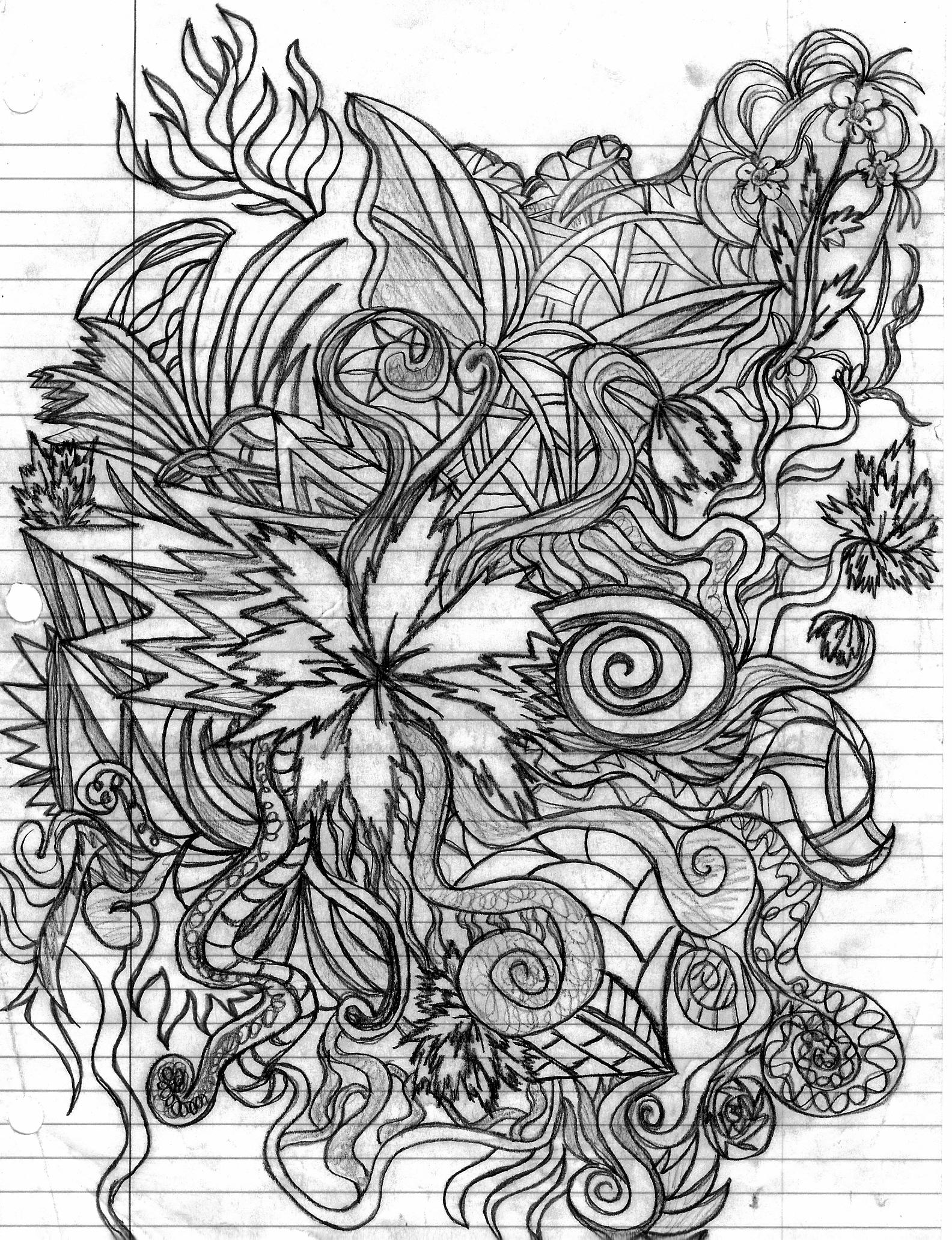 Abstract Line Drawing Flowers : Another abstract flower by darkness dark on deviantart