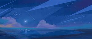 Night Sky Background Painting