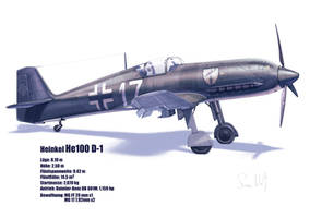 Heinkel He100 D-1 by hylajaponica