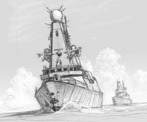 Type 45 destroyer by hylajaponica