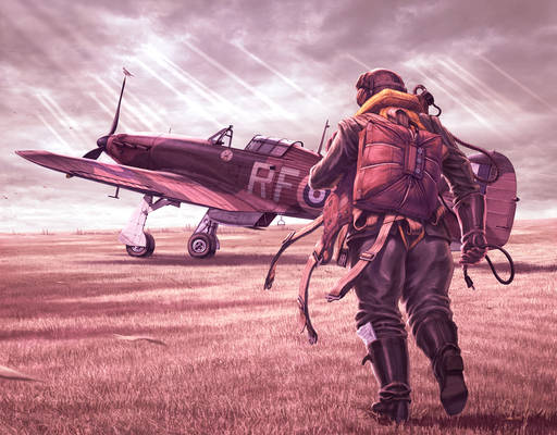 A fighter pilot in exile.