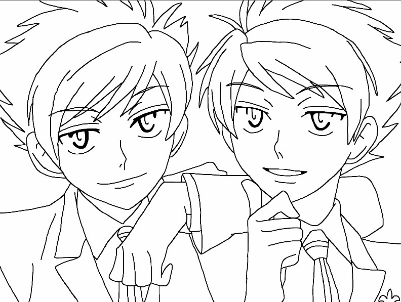 Ouran Highschool Host Club Coloring Pages Honey