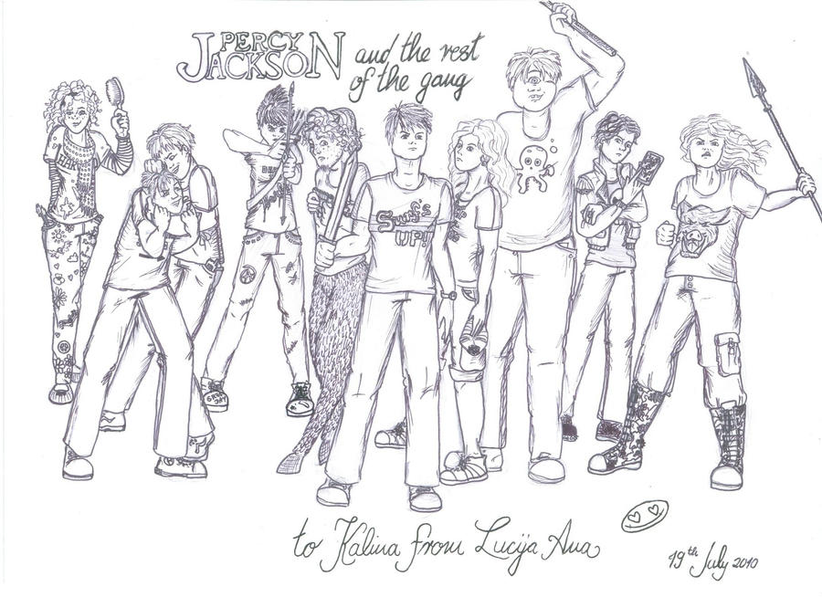 Percy Jackson Characters by Mergirlonland on DeviantArt