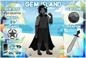 Gem Island - Pyrolusite by Pyrolusite-N66