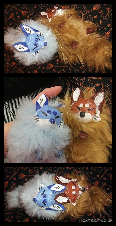 Small Fox Kitsune Dolls by EternalEmporium