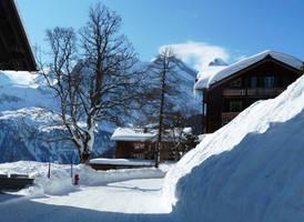 Swiss mountain village by Cadaska