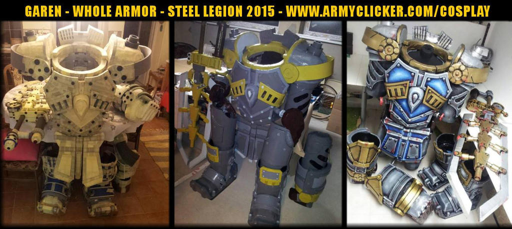 Steel Legion Garen Cosplay - WIP - Painting by ArmyClicker ...