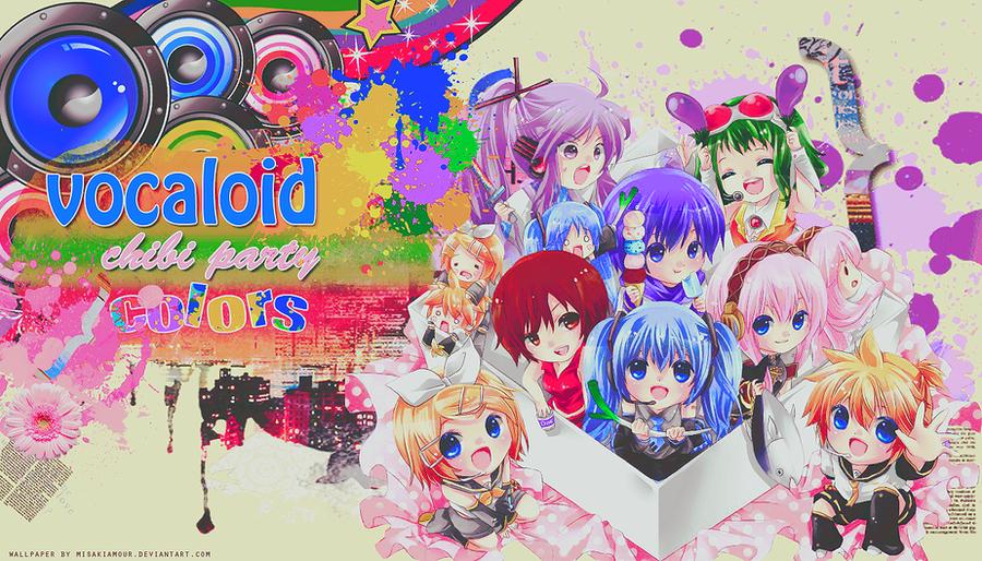 Vocaloid Chibi Group Wallpaper Vocaloid Chibi Wallpap...