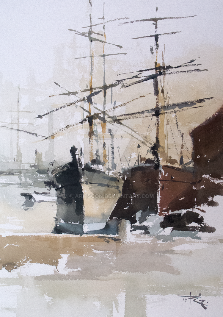 Tall Ships on Thames by artiscon