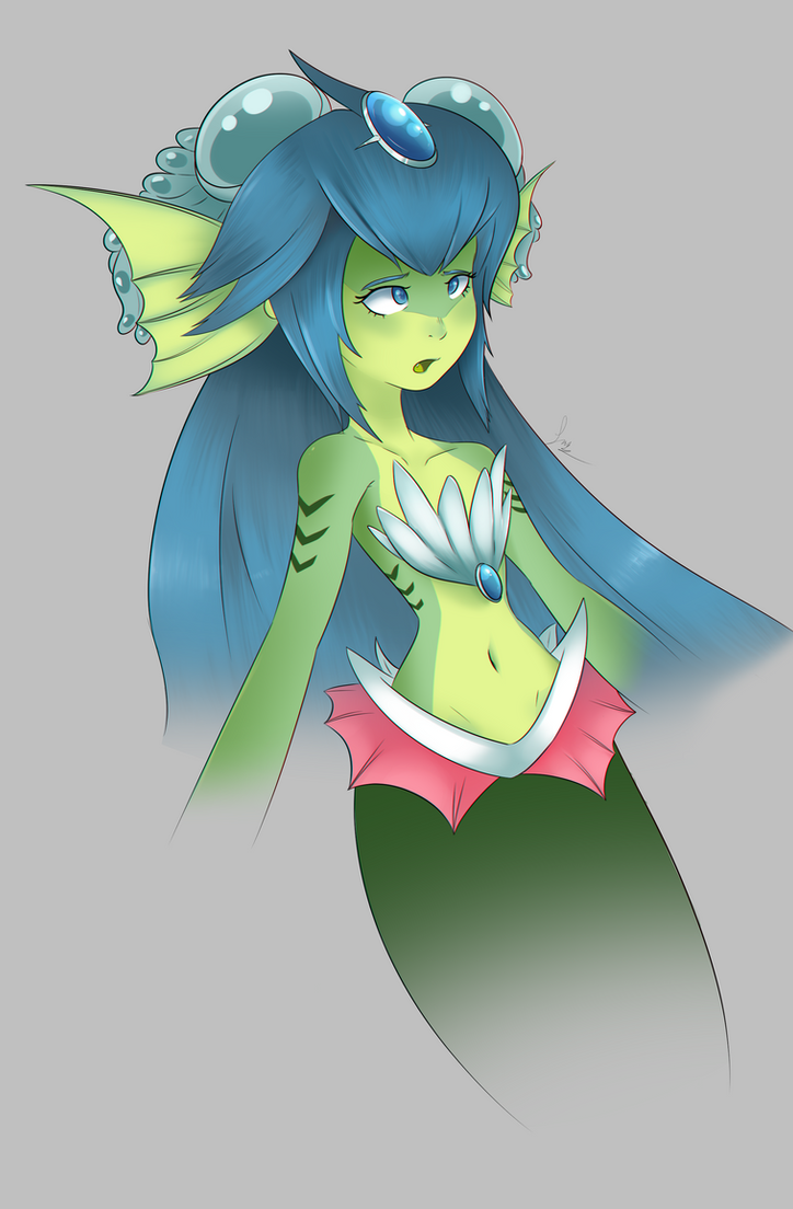 Giga Mermaid WIP by Clavaa