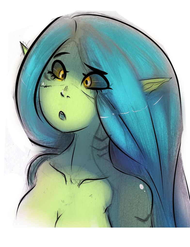 quick fishie sketchie by Clavaa