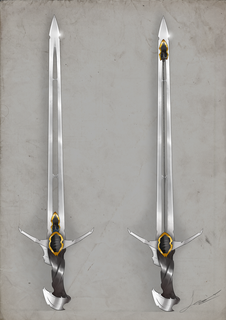fantasy sword design by Clavaa