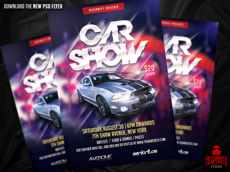 Car Show Flyer Psd Template By Iamredsanity On Deviantart