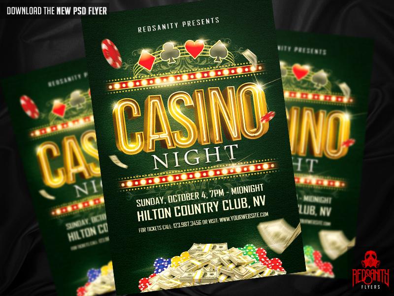 Casino Night Flyer Psd Template By Iamredsanity On Deviantart