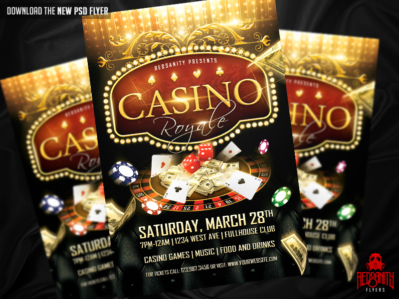 Casino poster psd