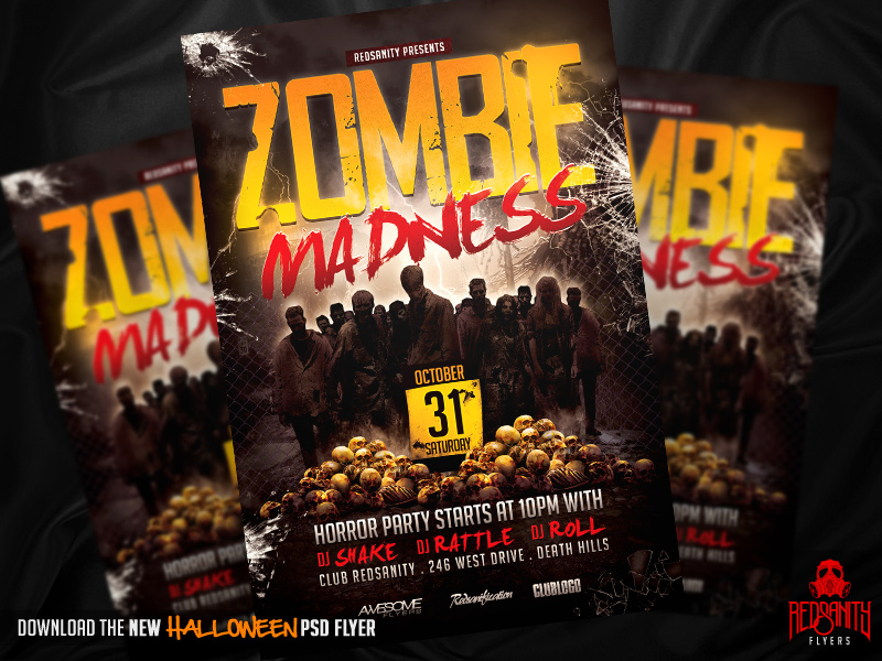Zombie Madness Flyer Psd Template By Iamredsanity On Deviantart