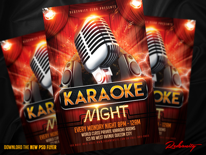 Karaoke Night Flyer Psd Template By Iamredsanity On Deviantart