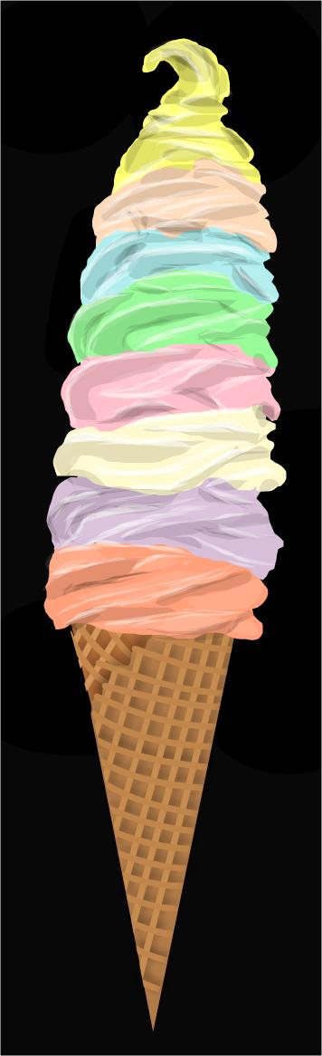 Tower of Ice Cream by shellfish101