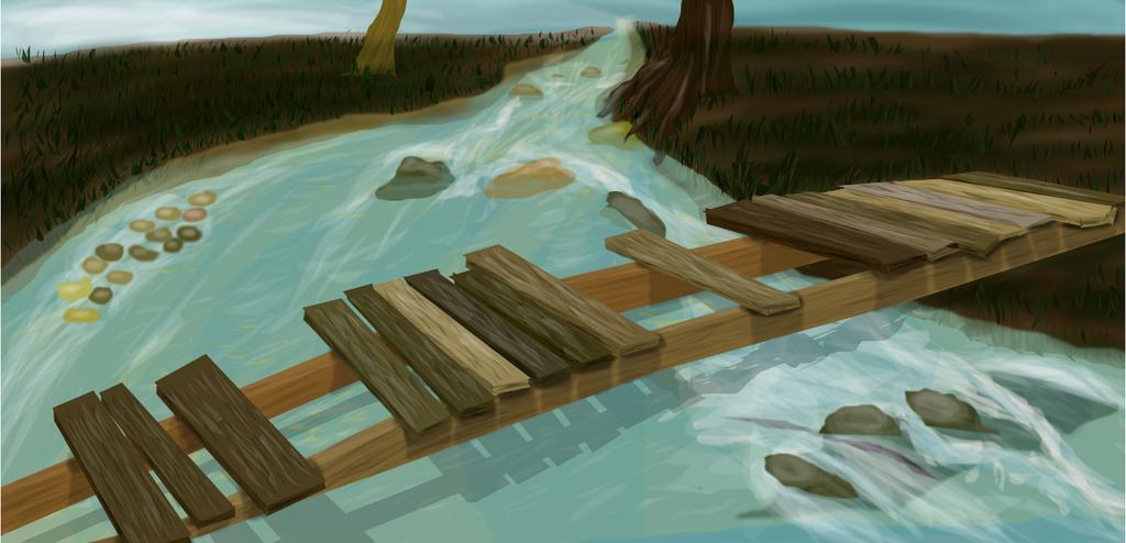 Broken Bridge by shellfish101