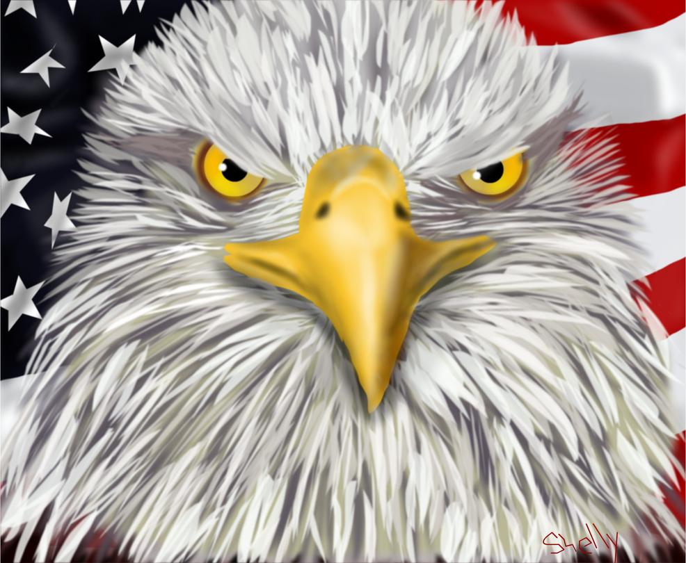 Eagle Fourth of July by shellfish101