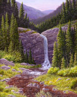 Mountain Waterfall by Choedan-Kal