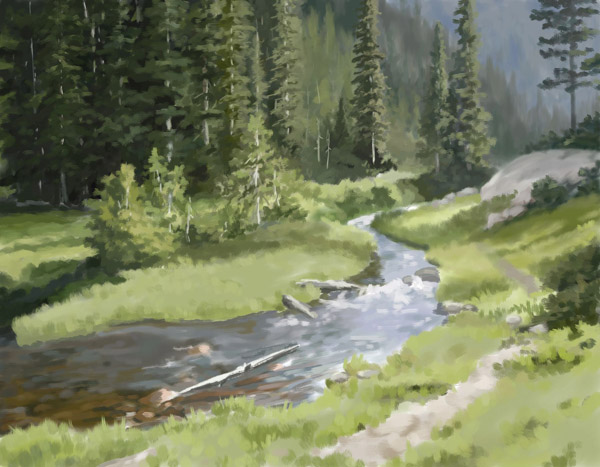 Rocky Mountain Creek by Choedan-Kal